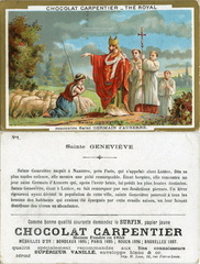 Image Chocolat Carpentier - Thé Royal - N° 1 - Sainte Geneviève rencontre Saint Germain d'Auxerre (429)