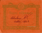 Billet d'honneur - EIPDEP 414 orange - Lebreton Pierre - 1953