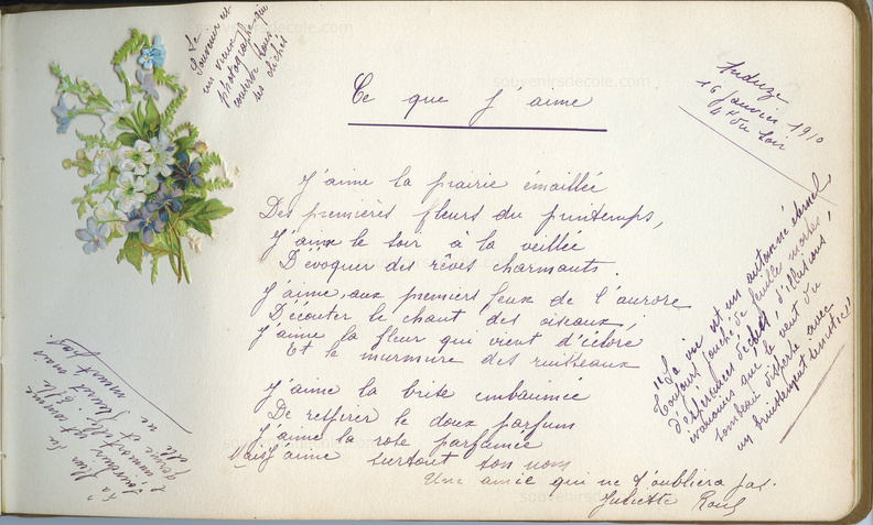 Album de poésies Julie Jaffiol, Anduze,1910 - Page 23