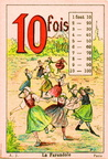Table de multiplication de 10 - La Farandolet - éd. A. Jeandé