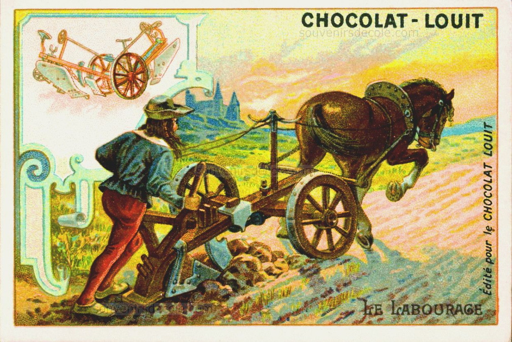 Le Blé - Le Labourage - Image Chocolat Louit