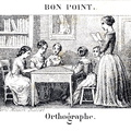 Orthographe - Bon point Maison Basset, Paris - Fin XIXème