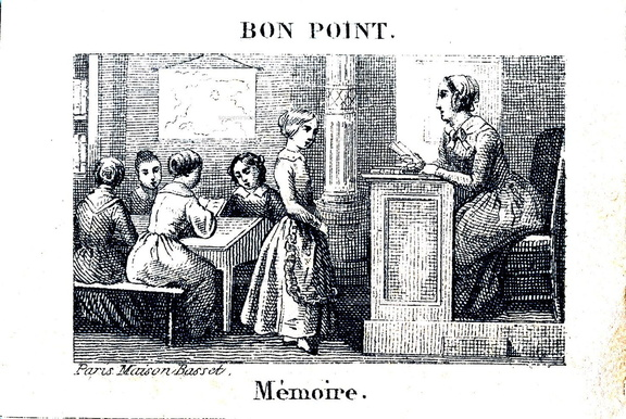 Mémoire - Bon point Maison Basset, Paris - Fin XIXème