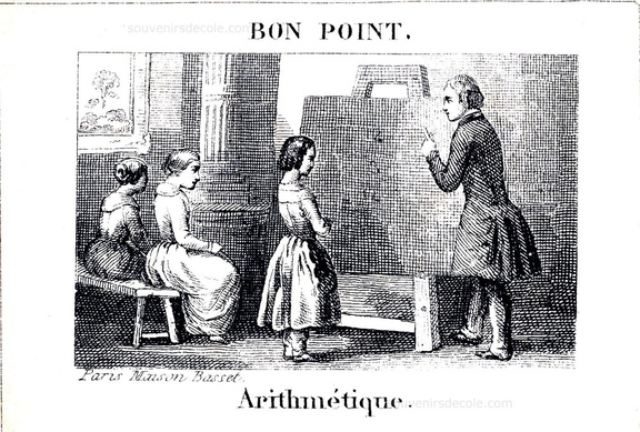 Arithmétique - Bon point Maison Basset, Paris - Fin XIXème